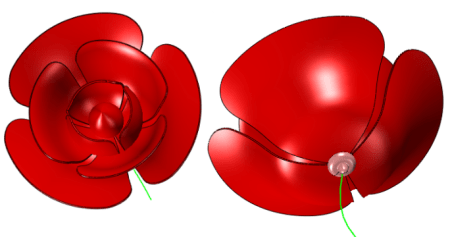 Finish the main part of the rose