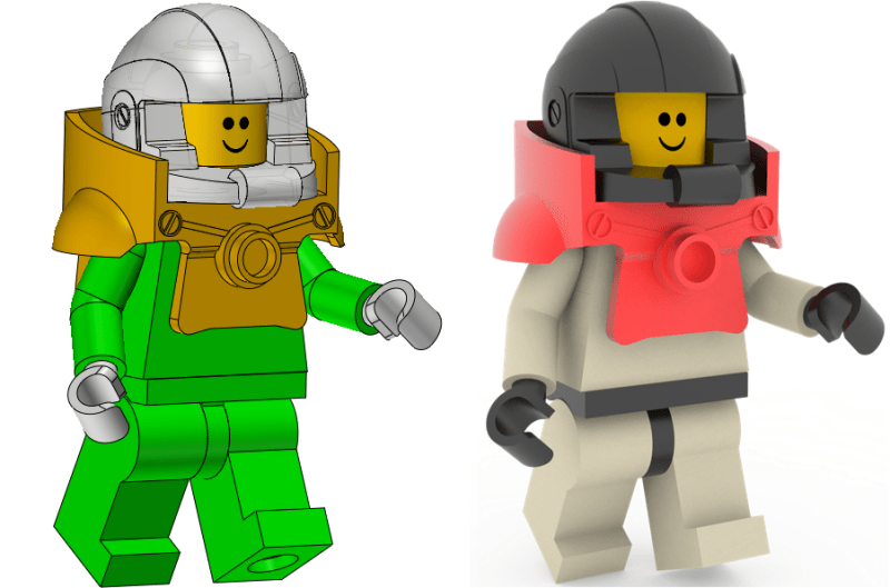 Figure 12. The assembled LEGO® toy and its rendering effect