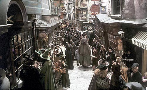 Diagon Alley - Where Harry Shops for Back-to-Hogwarts Supplies!