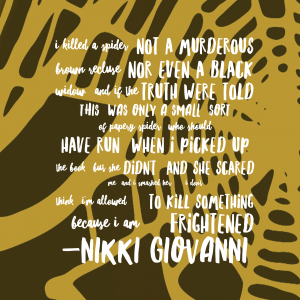 And now to go read more Nikki Giovanni poetry.