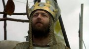 Chapman as King Arthur in Holy Grail