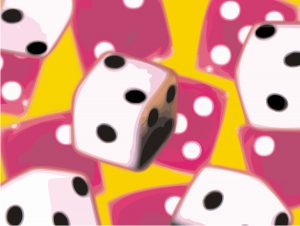 Abstract Dice Image
