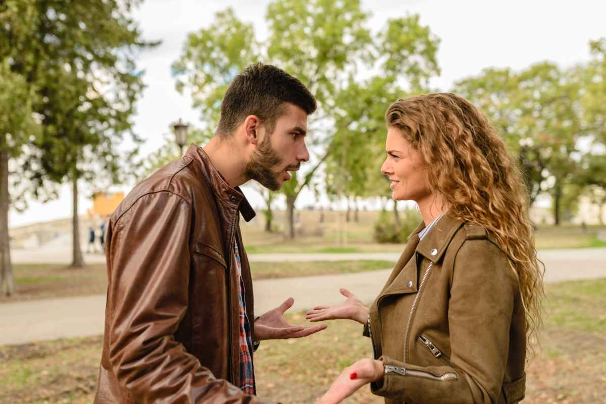 A man and a woman having an argument