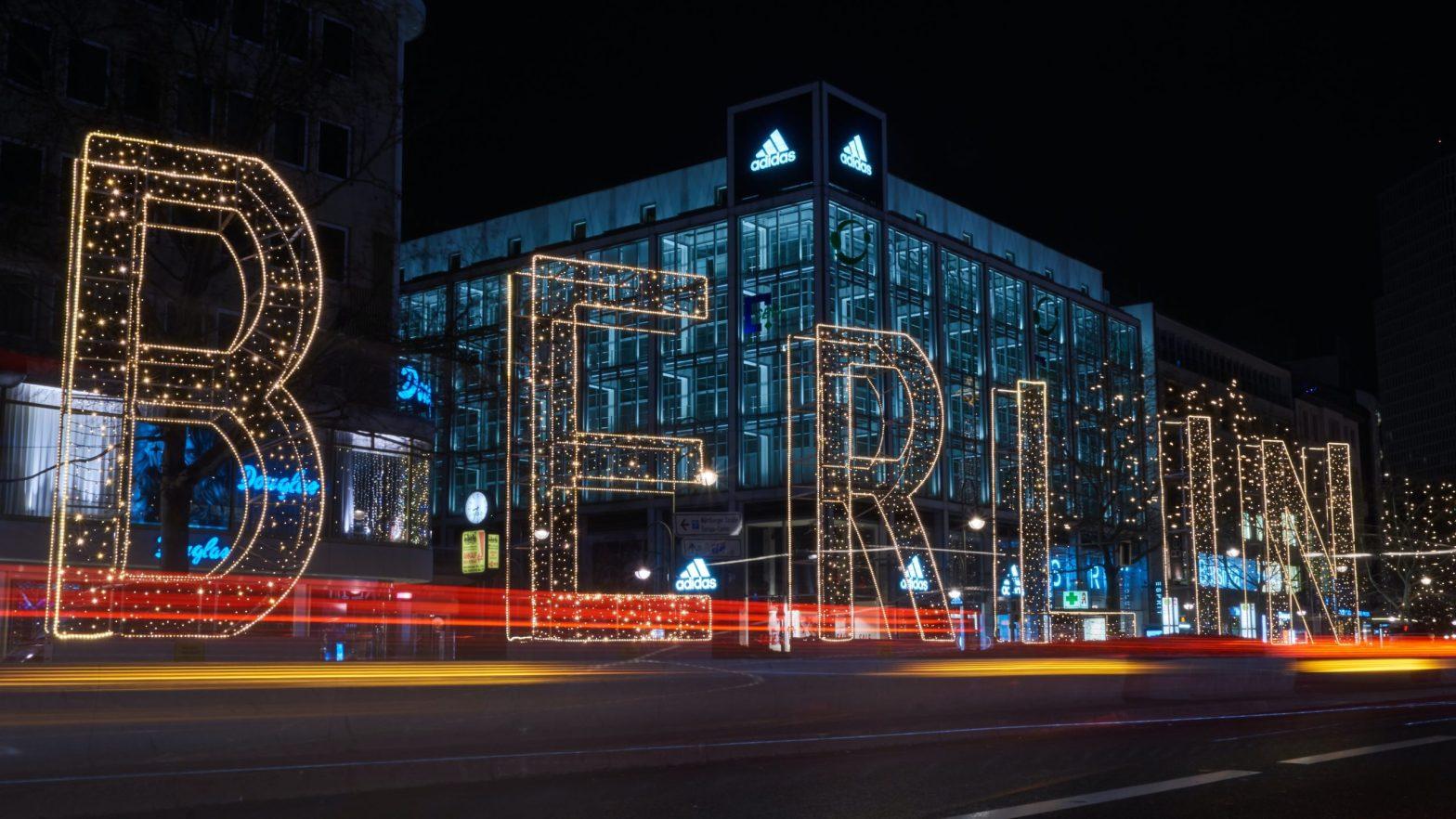 Berlin written with lights