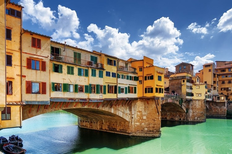 Houses over water in Florence