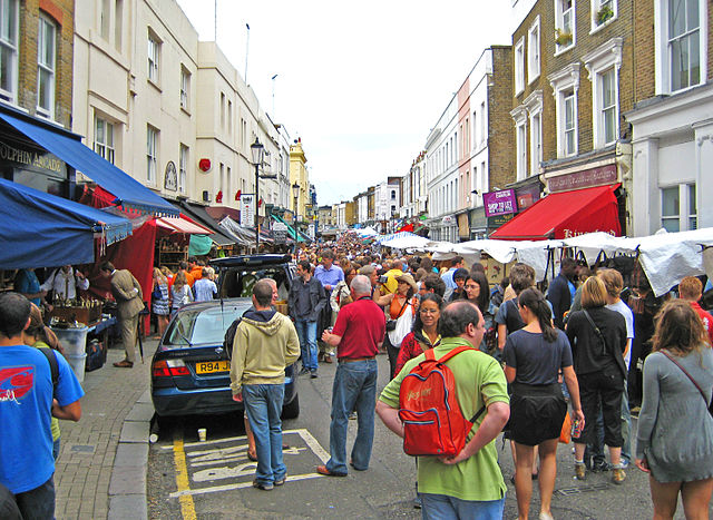 Portobello Market in London