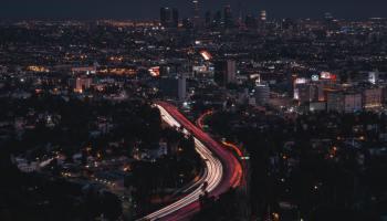 Aerial shot of LA, rooms for rent in Van Nuys