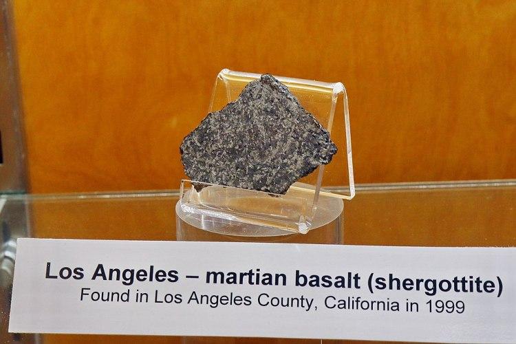Los Angeles, Martian Basalt found in LA county