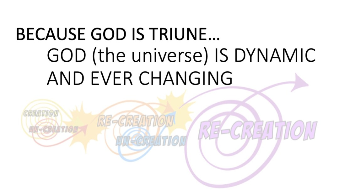God is dynamic and ever changing