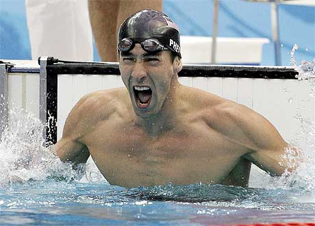Gold No. 7 for Michael Phelps (1/2)