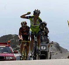 Valverde eta Szmyd Mont Ventoux-eko helmugan