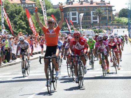 Koldo Fernandez de Larrea. 2009ko Burgoseko Itzuliko lehen etapan garaipena