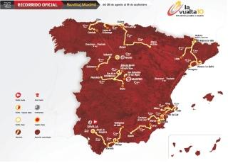 2009ko Espainiako Vueltaren ibilbidea