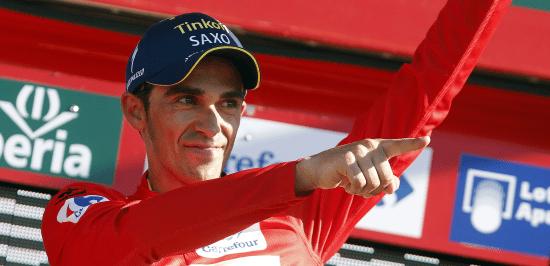 Contador lider Vueltan
