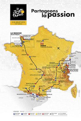Frantziako Tourra ibilbidea