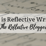 What is reflective writing badge