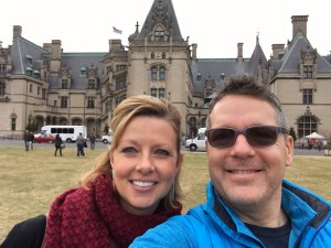 Outside the Biltmore House.