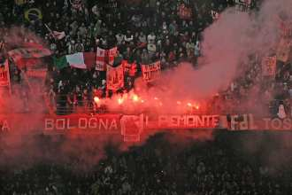 Crowds at Italian soccer game