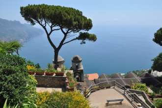Ravello, with stunning views like this, is a must-see when you visit the amalfi coast.