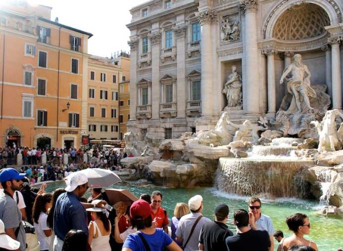 The Trevi Fountain, Rome, Italy.