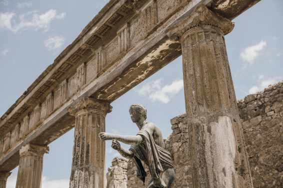 Visiting Pompeii is like taking a trip through time