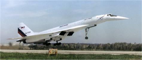 Tu-144 despegando