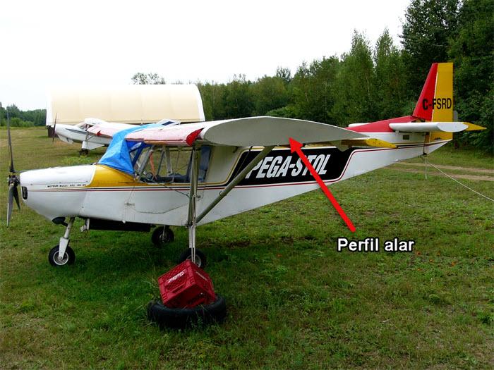 perfil alar de un avion