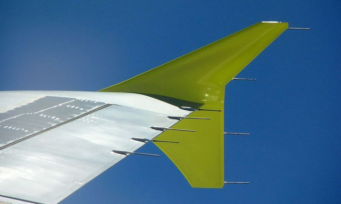 wingtip fences de un A320