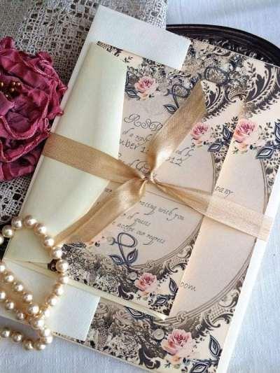 convite casamento vintage