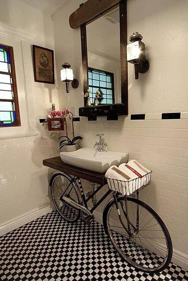 Bike como pia lavabo