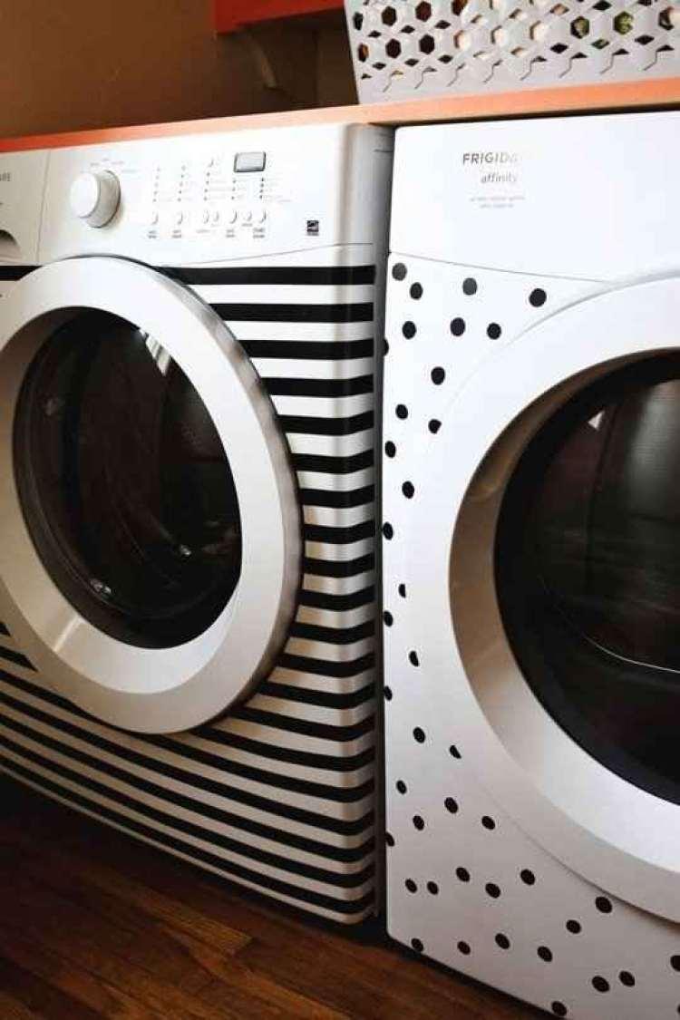Washi tape maquina lavar roupa