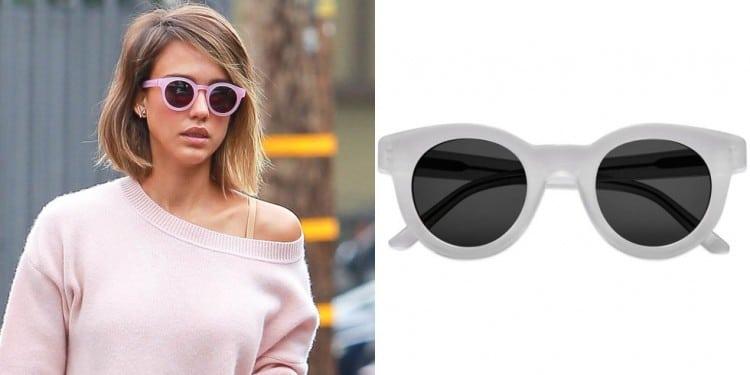 a melhor escolha_oculos de sol colorido rosto coracao