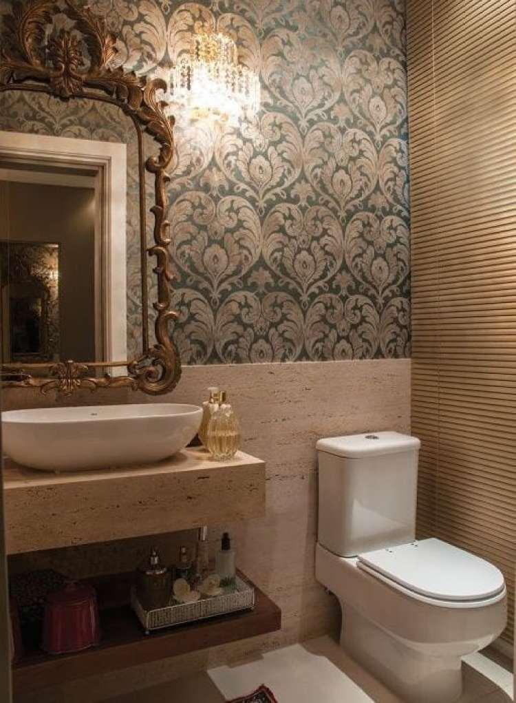 a melhor escolha_espelho moldura bronze na decoracao