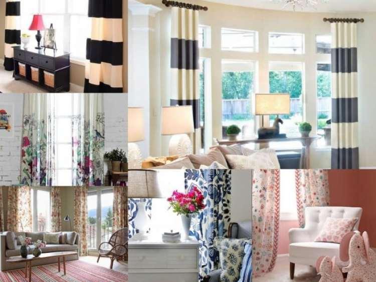 a melhor escolha_cortinas florais e listradas