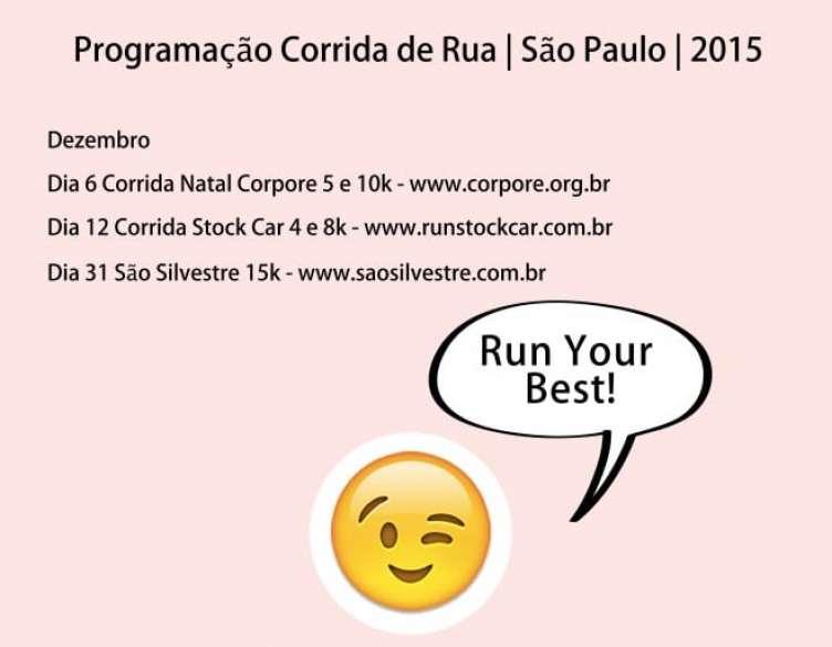 a melhor escolha_programacao corrida de rua sao paulo dezembro