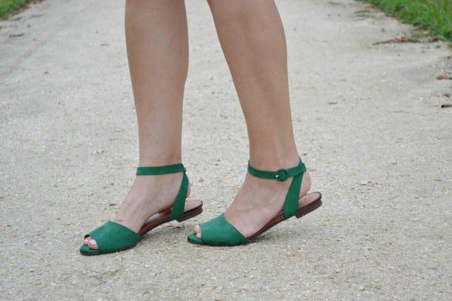 sandalia verde carrano
