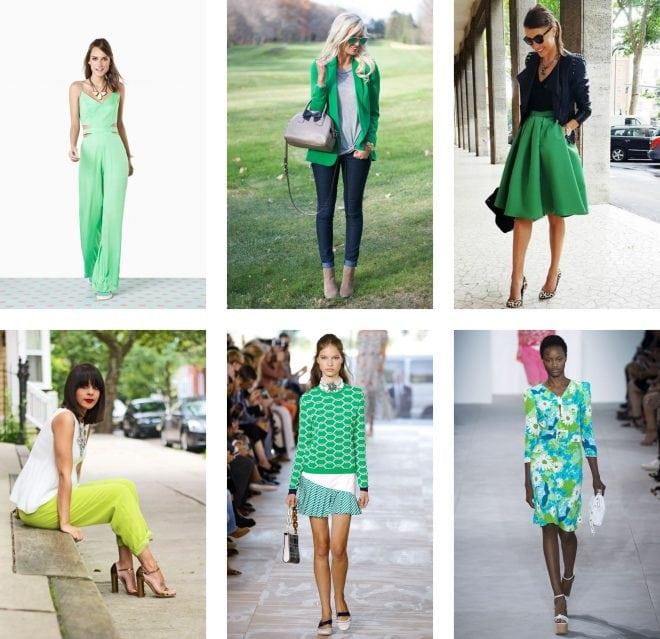 Inspirações de moda, beleza, maquiagem e decoração aplicando o cor da pantone 2017 Greenery
