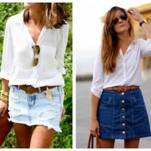 Inspiração: Looks usando saia jeans