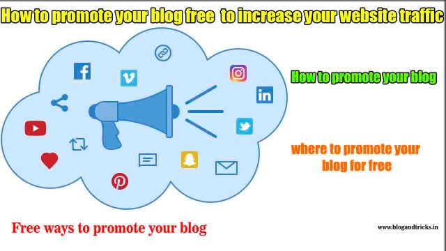 how-to-promote-your-blog-free-to-increase-your-website-traffic