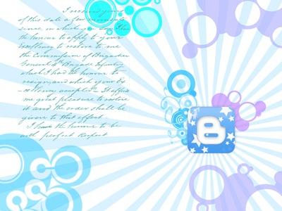 Blogger vectorial