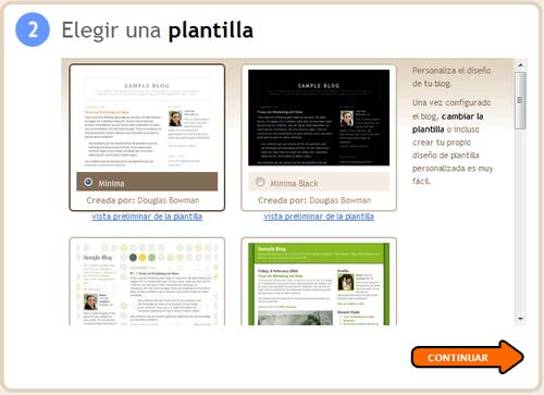 Selecciona el aspecto de tu blog