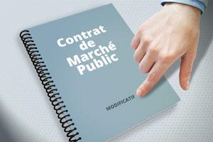Modifier un contrat de marché public