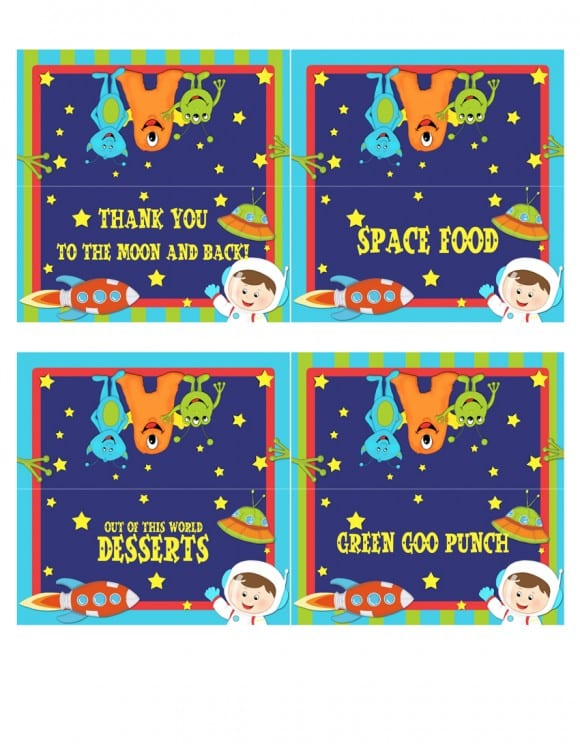 FREE Outer Space Party Printables From Lil Monkeys