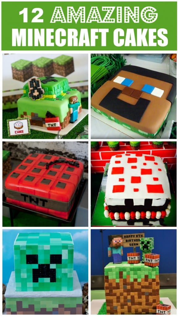 Recopilatorio tartas minecraft