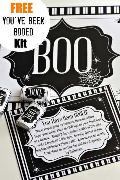 You've been BOOed free printable kit |CatchMyParty.com