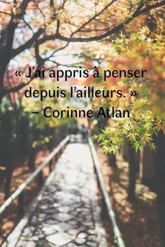 Rencontre Corinne Atlan - photo automne