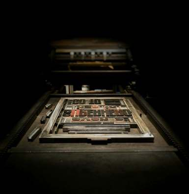 Imprimerie old school - La chaîne du livre - produire