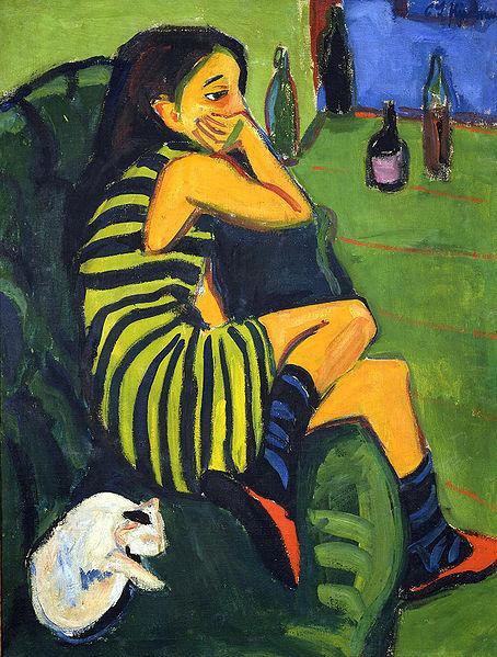 Elle attend / Ludwig_Kirchner