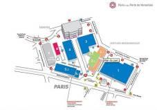 Plan de la Porte de Versailles Mondial de l'Automobile