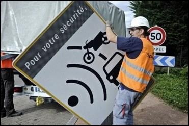 démontage-panneau-radar-automatique-fixe